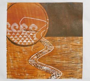 Λεπτομέρεια από το έργο της καίτης Τουρτούρα, Εργαστήριο 2014